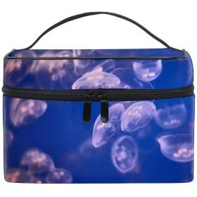 美しいクラゲの水中化粧ポーチ トラベルポーチ 収納ポーチ 旅行ポーチ 小物入れ マルチポーチ かばん 防水 旅行