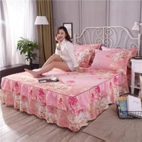 夏のベッドカバーフリルフィット軽量ベッドスカート装飾シート3枚セット,L-120CM200CM