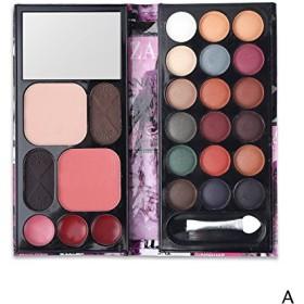 (Set A) Professional Makeup Set Multi-function Matte Shimmer Eyeshadow Palette + Blusher + Lipgloss + Eyebrow Cake