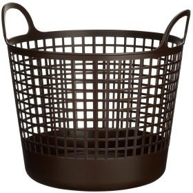 like-it 脱衣かご ラウンドバスケット 丸型 スカンジナビアスタイル ブラウン 幅41x奥37x高37.5cm SCB-1