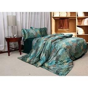 高級 シルク 布団カバー セット絹 人造絹糸 上品 欧米スタイル 掛け布団カバー シーツ 枕カバー 2枚 SFANY