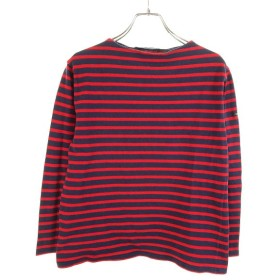 SAINT JAMES ボーダーカットソー バスクシャツ ネイビー×レッド サイズ:T 1(XS) (和歌山店) 190910