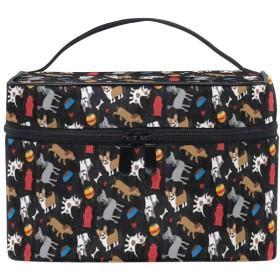 メイクポーチ 可愛いの犬 柄 化粧ポーチ 化粧箱 バニティポーチ コスメポーチ 化粧品 収納 雑貨 小物入れ 女性 超軽量 機能的 大容量