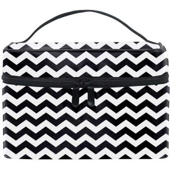 Black And Whiteコスメポーチ 化粧収納バッグ レディース 携帯便利 旅行 誕生日 プレゼント