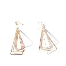 フィガロデザイン女性ダングルドロップローズGolden Aztec 3d三角形ピラミッドDiva Gypsy fully-jewelledイヤリング