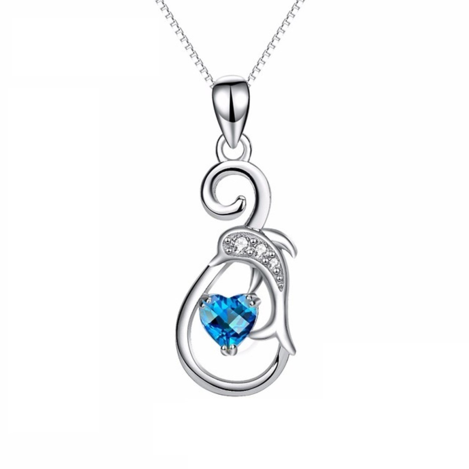 CS-DB Womens Necklaces by Silver Pendant Hollow Angel Charm Girls