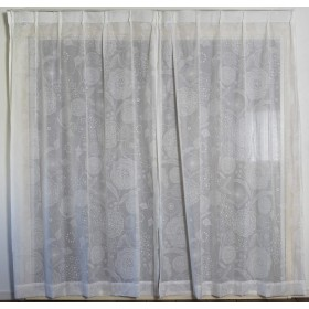 スミノエ(Suminoe) レースカーテン ホワイト 100×198cm イハナボイル 洗える 1枚入 V1312