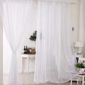 ミラーレースカーテン レースカーテン 遮光カーテン ボイル 薄い おしゃれ 突っ張り棒タイプ 自然の風を通し 洗濯可能 窓 部屋 2枚セット (ホワイト, 140  120CM)