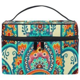 メイクボックス ハムサ柄 化粧ポーチ 化粧品 化粧道具 小物入れ メイクブラシバッグ 大容量 旅行用 収納ケース