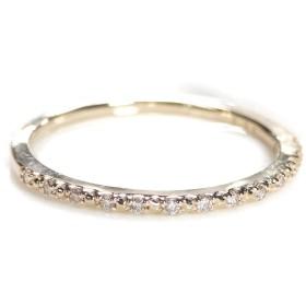 [Yuzuki] ダイヤモンド エタニティ リング 【0.08カラット】 k10ゴールド 【イエローゴールド】 ハーフエタニティー ダイヤモンドリング (サイズ8.5号)【ギフトラッピングされています】【品質保証書が付いています】
