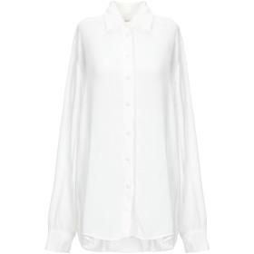 《セール開催中》MAJE レディース シャツ ホワイト 2 レーヨン 100% / ポリエステル