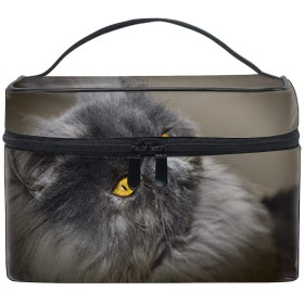 ポーチ化粧 かわいいペルシャ猫灰色猫ふわふわ猫 大きめ 小物入れ おしゃれ 化粧ポーチ 小物入れ