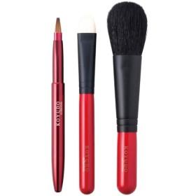 熊野筆 化粧ブラシ3本セット(チークブラシ・携帯用リップブラシ・アイシャドウブラシ)