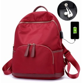 SURCHAR リュック レディース ミニリュック 大容量 USB充電ポート 盗難防止 小物収納 3way リュックサック 旅行 アウトドア マザーズバッグ ワイン