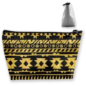 抽象的な手描きのパターン 収納ポーチ 化粧ポーチ トラベルポーチ 小物入れ 小財布 防水 大容量 旅行 おしゃれ
