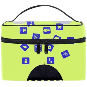 Blue Birdメイクボックス コスメ収納 トラベルバッグ 化粧 バッグ 高品質