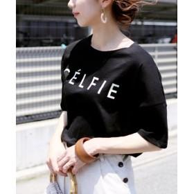 (reca/レカ)ロゴTシャツ-CELFIE/レディース ブラック