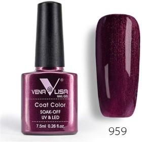 1 Glass Bottle Fashion Bling 7.5 ML Soak Off UV Gel Nail Gel Polish Cosmetics Nail Art Manicure Nails Gel Polish Shellak Nail Varnish (959)