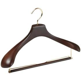 長塩産業 木製オリジナルスーツハンガー ブラウン HNO (43cm 5本セット)