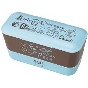 竹中 日本製 お弁当箱 ABC レディースランチ 2段 ブルー 600ml T-66434