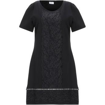 《セール開催中》LIU JO レディース ミニワンピース&ドレス ブラック S コットン 95% / ポリウレタン 5%