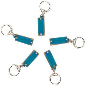 ハーモニカ 4穴 楽器玩具 吹奏楽器 キーリング ギフト 全3色 - 青