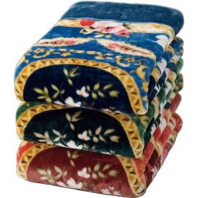 ファミリー・ライフ 毛布 ブルー、ピンク ダブル2色組サイズ(1枚)/約180×200cm 03214 2個セット