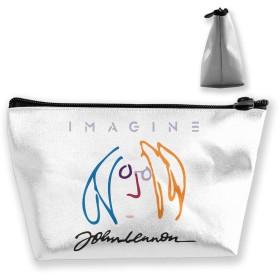 収納袋 コスメポーチ 筆箱 台形 化粧品入れ 高級品 軽量 大容量 日常 通勤 通学 お出かけ 温泉 多機能 ギフト John Lennon ジョン・レノン