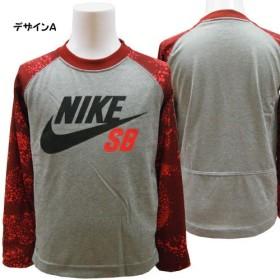 NIKE SB ナイキ エスビー キッズ ジュニア ドライフィット 長袖 Tシャツ カットソー - デザインA/4=96~104cm
