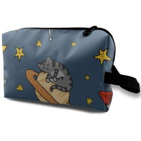楽しいサメ サーフィン 化粧バッグ 収納袋 女大容量 化粧品クラッチバッグ 収納 軽量 ウィンドジップ