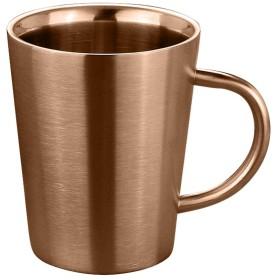 MX 保温マグカップ 二重構造 真空断熱マグ ステンレス マグカップ (金 350ml)