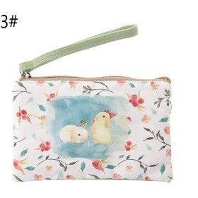 SimpleLife女性キャンバスかわいい動物プリント財布財布コインバッグポーチケースハンドバッグ電話ポーチ