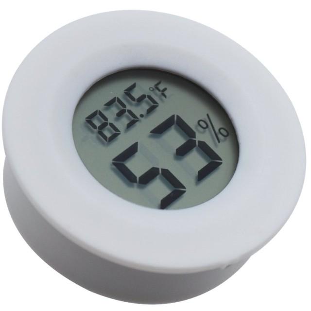 デジタル温度計湿度計室内 液晶ディスプレイ デジタル温湿度計 持ち運びに便利 健康管理 TIAMAT (ホワイト)