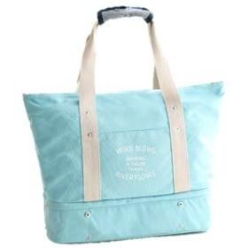 [TamaFleur] マザーズバッグ(ライトブルー) スポーツバッグ 2層式収納 インナーポーチ ポケット