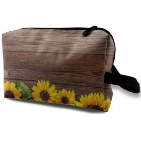 MEClOUD 化粧ポーチ ひまわり 木 メイクポーチ コスメバッグ 収納 雑貨 防水 小物入れ 旅行用