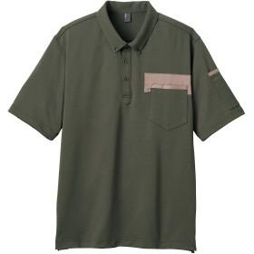 CAREAN CSP172 T/CKANOKOPOLOSHIRT半袖ポロシャツ カーキ 5L
