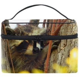 アライグマオンブランチメイクボックス コスメ収納 トラベルバッグ 化粧 バッグ 高品質