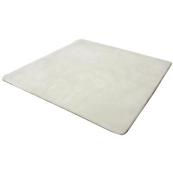 イケヒコ ラグ カーペット 2畳 無地 フランネル 『フランアイズ』 アイボリー 約185×185cm(ホットカーペット対応)♯9810218