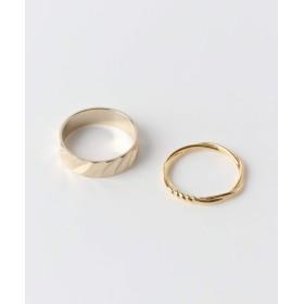 [スメリー] 指輪 リング 2セットリング レディース GLD -
