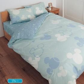 [ベルメゾン] ディズニー 寝具カバーセット 布団カバー 3点セット ブルー 和式シングル