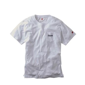 【3Lサイズ限定特価品】Hanes(ヘインズ)綿100%ポケット付き半袖Tシャツ Tシャツ・カットソー