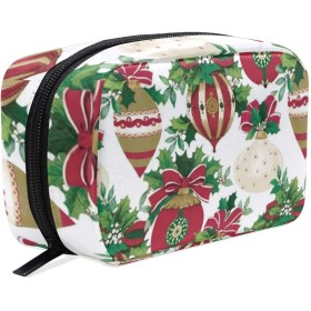 クリスマスの卵の装飾のギフト 化粧ポーチ メイクポーチ コスメポーチ 化粧品収納 小物入れ 軽い 軽量 旅行も便利 [並行輸入品]