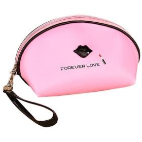 DRASAWEE(JP) 化粧ポーチ コスメポーチ メイクポーチ 機能的 おしゃれポーチ 旅行 小物入れ 財布 ストラップ付き 持ち運び便利 全5色 ピンク