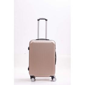 【freelife】 E4M, スーツケース TSAロック付き キャリーケース キャリーバッグ S M Lサイズ (M, ゴールド)