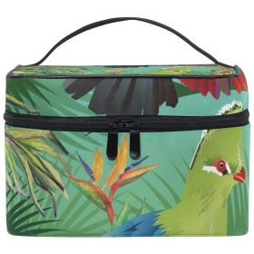 メイクボックス クロッサ鳥柄 化粧ポーチ 化粧品 化粧道具 小物入れ メイクブラシバッグ 大容量 旅行用 収納ケース