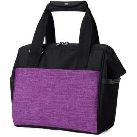 ZL4CH オックスフォード布 ピクニックバッグ 斜め掛け保温バッグ マミ包 ワイヤー開口