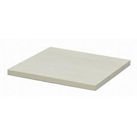 カフェキッツ テーブル用天板 〔四角 ホワイト〕 W60cm×奥行60cm×高さ3.5cm 〔インテリア家具 什器〕〔代引不可〕