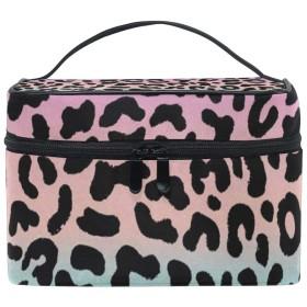 メイクポーチ レオパード 豹柄 化粧ポーチ 化粧箱 バニティポーチ コスメポーチ 化粧品 収納 雑貨 小物入れ 女性 超軽量 機能的 大容量
