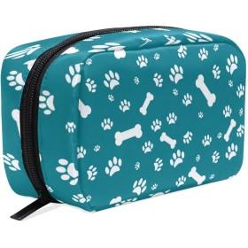 犬パターン 化粧ポーチ コスメポーチ メイクポーチ 使いやすい 機能的 小さめ コンパクト 化粧 ポーチ 便利グッズ キレイめ 小物入れ 旅行 トラベル