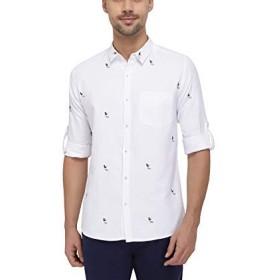 ニック&ジェス - カジュアルシャツ - カラークラシックシャツ - メンズ - ホワイト - M(胸囲:102 cm)